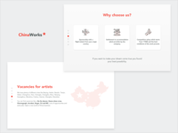 ChinaWorks Landing Page | Screens 3-4/6