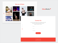 ChinaWorks Landing Page | Screens 5-6/6