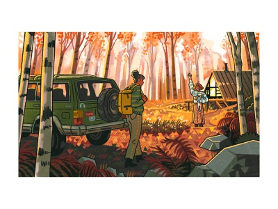 Your Old Ford cozy rocks couple cat car vintage birch orange wilderness woods cabin autumn leaves autumn forest ford