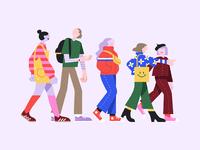 A friends parade