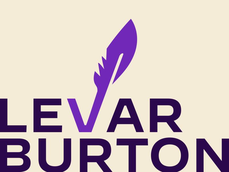 LeVar Burton — Identity sans serif feather quill logo