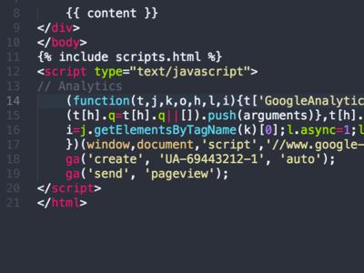 Code Can Be Art, Too html jekyll monokai atom javascript analytics google