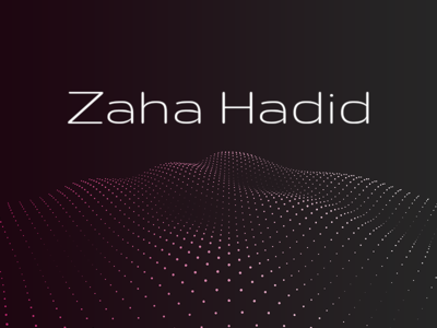 Zaha Lives On zaha hadid architect tribute threejs parallax scrolljacking slideshow css animation mesh wave