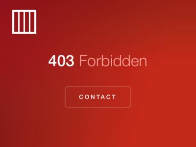 Don't Steal. responsive css html contact danger lock design web 403 error