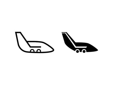 ShopJet / icon icon cart shopping tail plane branding logo