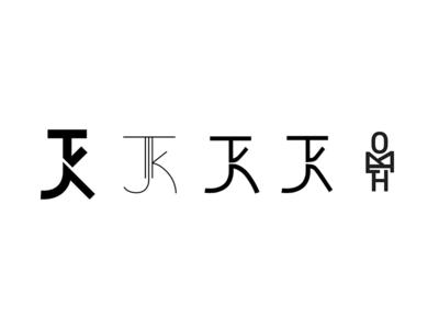 TJK Evolution tjk kohli tj letterform brand mark logo