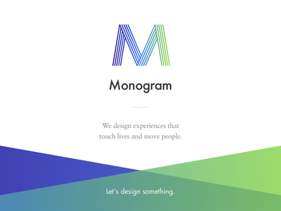 Monogram — Landing sabon futura modern retro green purple logo website