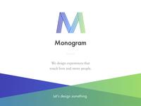 Monogram — Landing