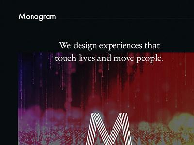 Monogram — Intro m logo css3 animation design agency website