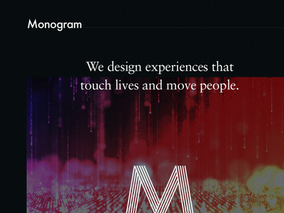 Monogram — Intro m logo css3 animation design agency website