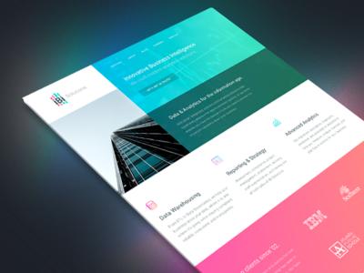 iBi Solutions — Design database data building graphs analytics consulting branding website design web