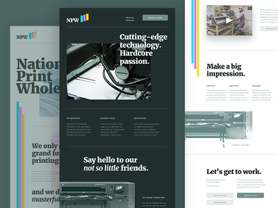 NPW web design open sans 60s benday clarendon merriweather print