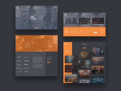 Form Films design ui glow website camera blur crop marks cards smooth grain gray orange film