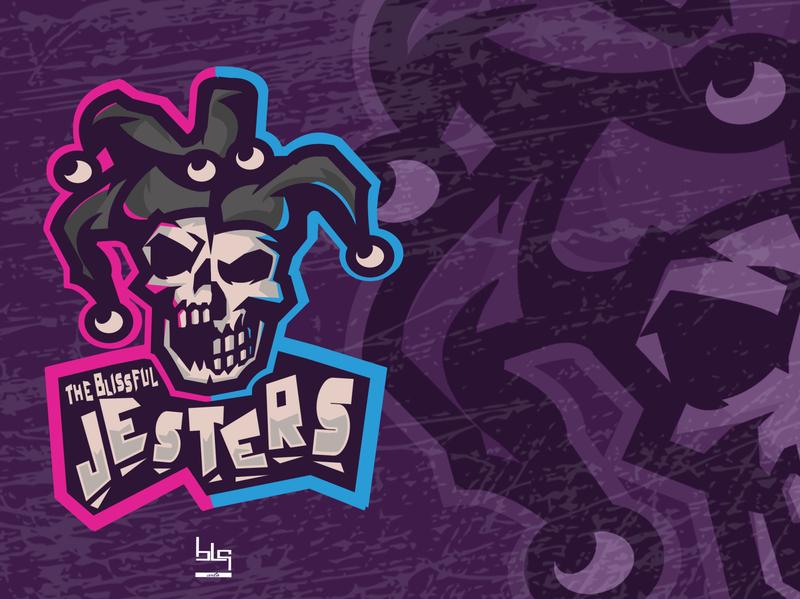 The Blissful Jesters logo graphic art art illustration design graphic vector