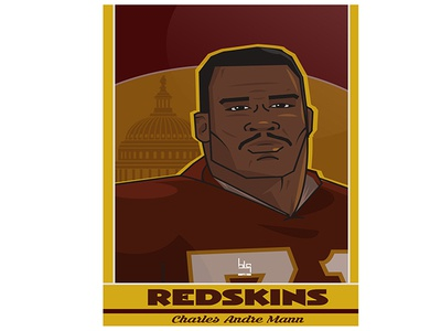 American football player Card design vector graphic