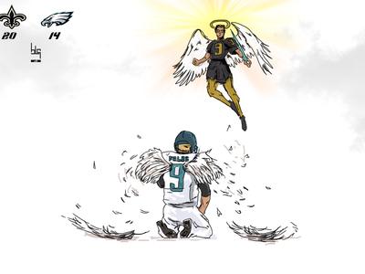 Eagles vs  Saints