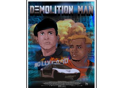 Alternative movie poster  Demolotion man