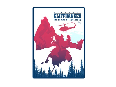 Cliffhanger alternative movie poster design