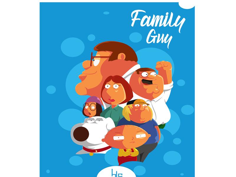 Family guy fan art family guy family animation tv series tv poster art poster wallpaper illustration graphic design vector