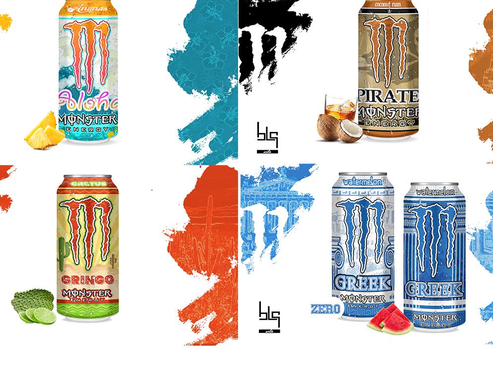 Alternative Energy drink design branding drawing can monster energy drink art illustration design graphic vector