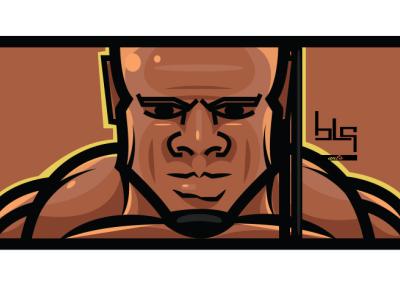 Bodybuilder vector portre bodybuilder portret graphic art drawing illustration graphic vector