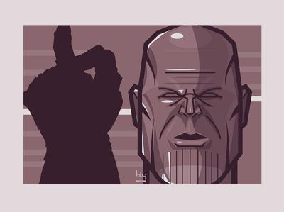 Thanos vector art thanos portre marvelcomics marvel scifi movie illustration art graphic vector