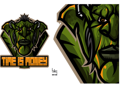 Wow game vector logo guild play esport goblin worldofwarcraft team drawing logo art illustration design graphic vector