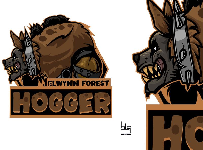 Hogger vector graphic game art graphic logo illustration design vector caracter worldofwarcraft