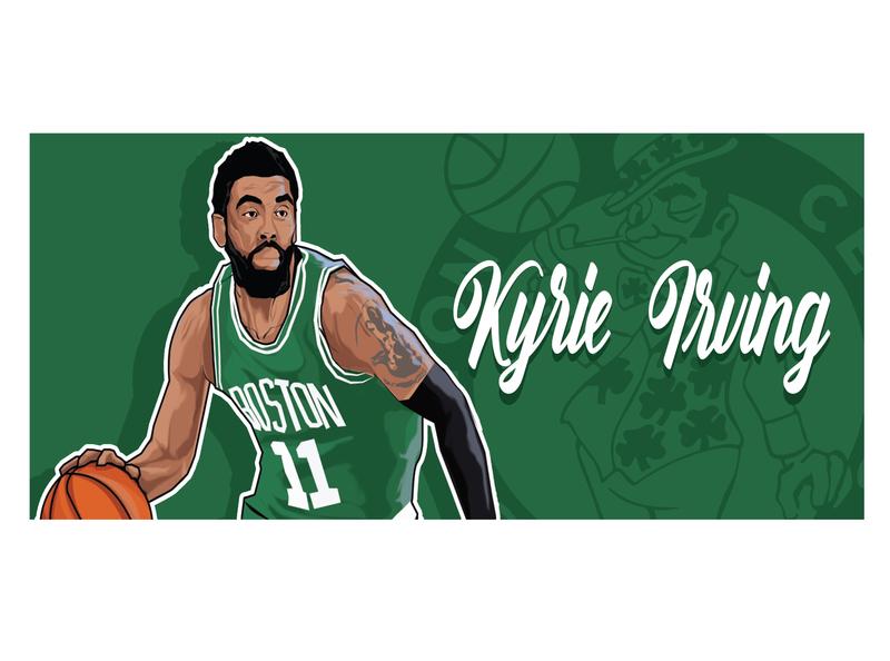 Kyrie Irving kyrie irving basketball logo nba graphic art illustration art design graphic vector