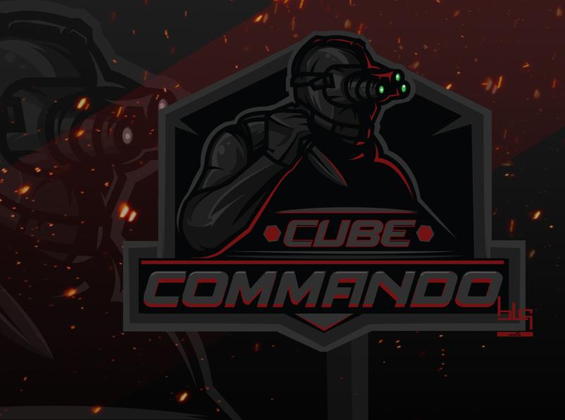 Cube Commando brand logodesign art team esport logo vector commando