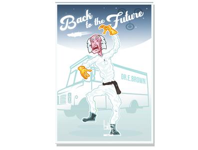 Back to the future fan art cover illustration art design graphic vector