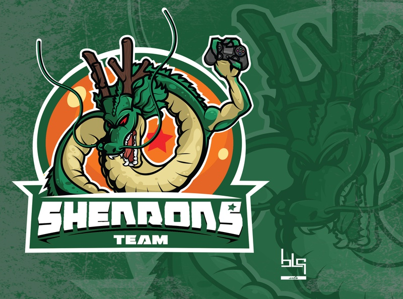 dragonball logo player team graphic art art logo illustration design graphic vector