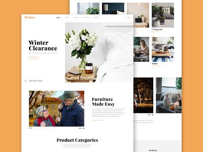 Timlin's Marketing Website development minimal landing page landing web design clean branding website webdesign