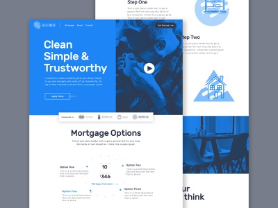 Bank Website Concept ui home page design clean landing page web design