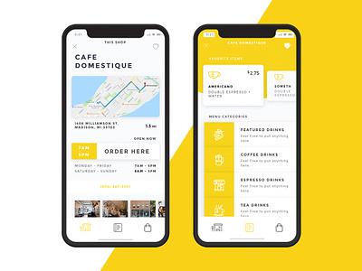 Jump! Coffee App Design concept product design ordering coffeeshop design ios ux ui app design