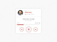 Freebies - Music Player PSD