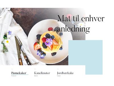 Website header mockup dessert food slider header website web design
