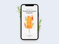 Peach Rosmary Popsicle