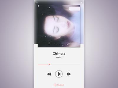 Daily UI - Music Player hana music player dailyui