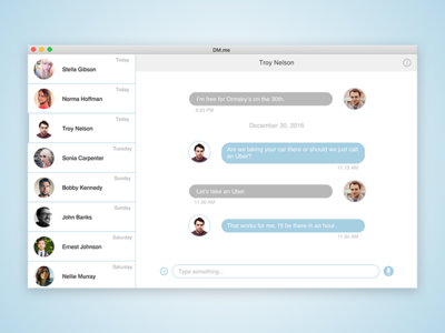 Daily UI - Direct Messaging direct messaging dailyui