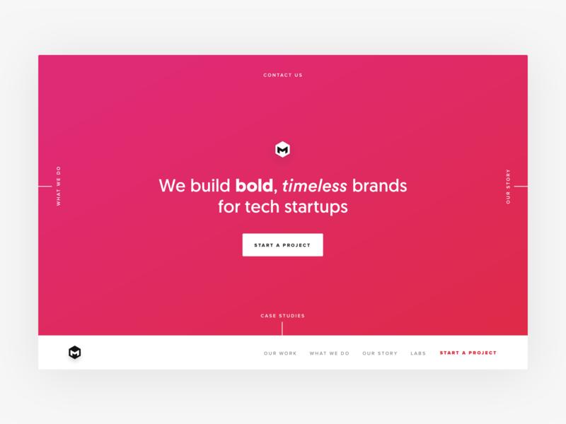 Startup agency website chicago mumbai header hero growth design front end conversion rate optimisation conversion web design india ux ui saas startup website saas startup agency website agency