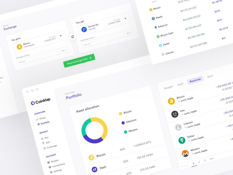 Crypto exchange dashboard conversion rate optimisation website web design india crypto wallet dashbaord dashboard web app marketing website marketing site homepage growth saas crypto exchange cryptocurrency crypto blockchain bitcoin ux ui