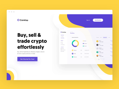 Crypto startup marketing website