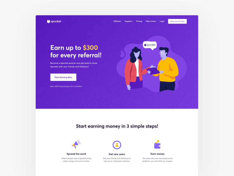 Affiliate landing page for SaaS product cro conversion rate front-end development visual design homepage growth b2b referral affiliate marketing website website design webdesign minimal conversion rate optimisation india saas website web design ux ui