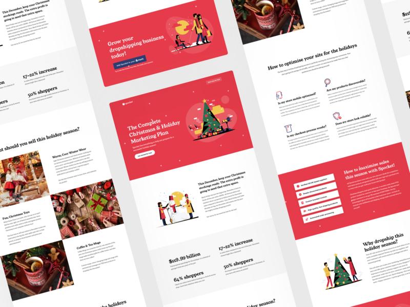 SaaS product landing page: Christmas Edition