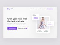 SaaS product website header