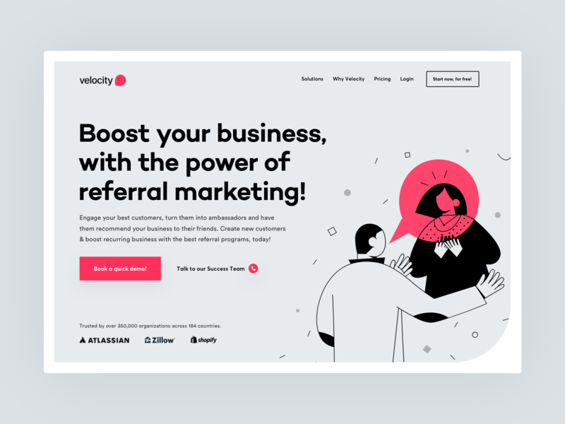 Header design for B2B SaaS product
