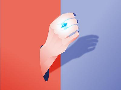 Risky Hands nftart nft hand etherium ether bitcoin crypto cryptoart design philippines illustration