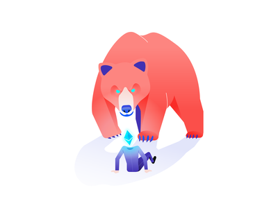 Bearish bearish bear illustration philippines design cryptoart crypto bitcoin ether etherium nft nftart