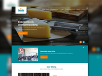 Website design for Laude a company specialized in Cheesemoulds